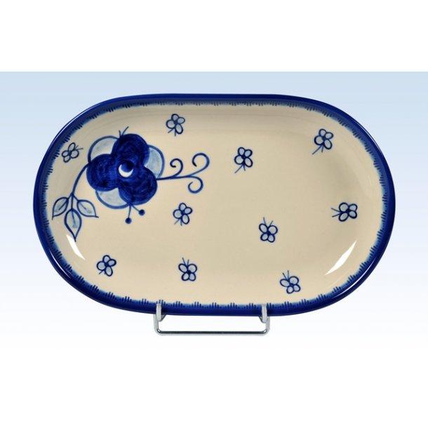 Håndmalet fad 27,5 cm - Art Blue 295