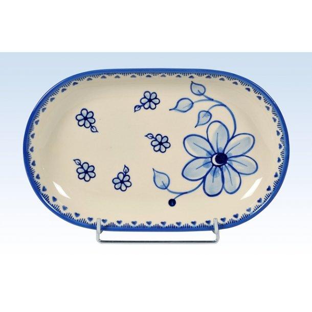 Håndmalet fad 27,5 cm - Art Blue 297