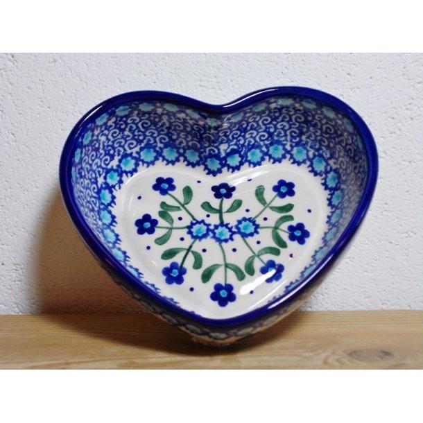 Hjerte Skål dia. 13,5 cm H 4,5 cm Nostalgi c27
