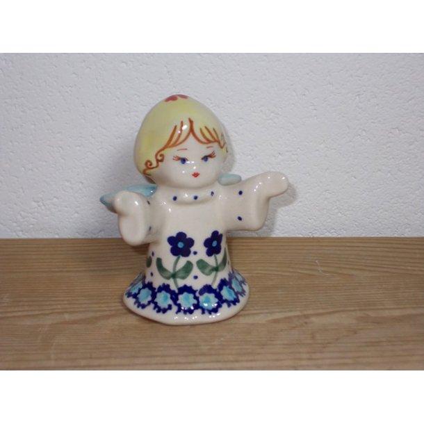 Keramikengel med åbne arme i Nostalgi c27 Højde 9 cm.