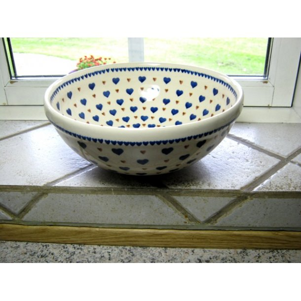 Skål i keramik og stentøj, Dia. 23 cm. højde 11,5 cm. Motiv Tradition 4.