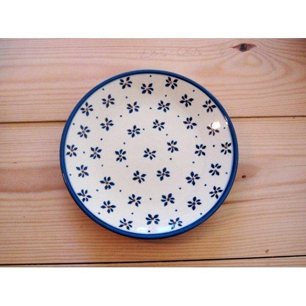 Håndmalet Kage Tallerken, Dia. 17 cm. Motiv Tradition 105b